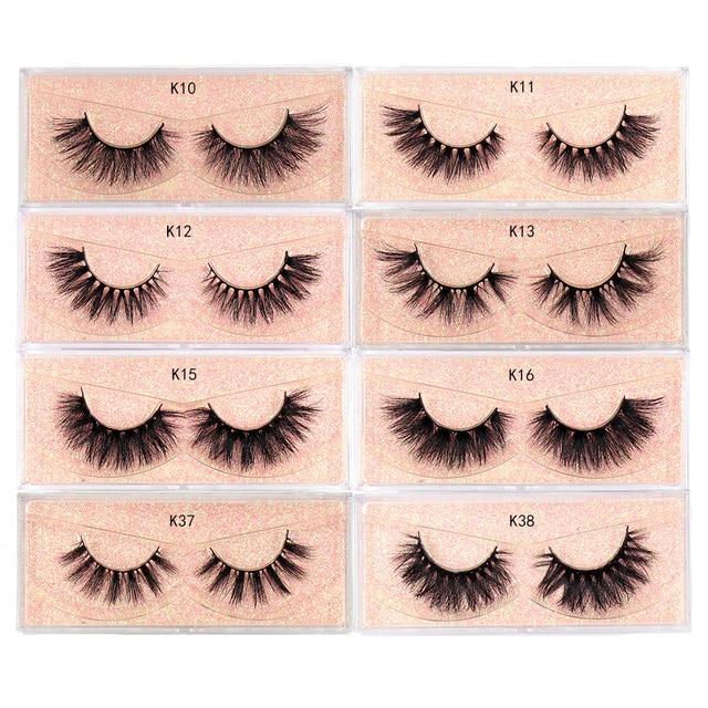 LEHUAMAO Makeup Mink Eyelashes 100% Cruelty free Handmade 3D Mink Lashes Full Strip Lashes Soft False Eyelashes Makeup Lashes 4