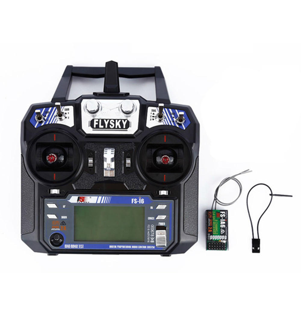 FlySky FS-i6 2.4G 6CH AFHDS RC Radio Transmitter With FS-iA6 Receiver for FPV RC Drone - Mode 1(Right Hand Throttle) image
