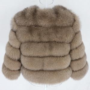 Image 3 - OFTBUY 2020 Winter Jacket Women Real Fur Coat Natural Big Fluffy Fox Fur Outerwear Streetwear Thick Warm Three Quarter Sleeve