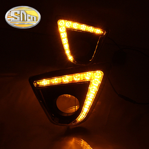 Image 4 - For Mazda CX 5 CX5 CX 5 2012 2013 2014 2015 2016 Daytime Running Light LED DRL fog lamp Driving lights Yellow Turn Signal Lamp