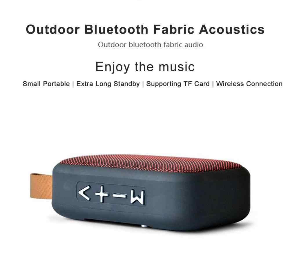 Portable Nirkabel Bluetooth Stereo Speaker untuk Smartphone Tablet Laptop Dukungan SD TF Kartu FM Radio Mini Loudspeaker Outdoor Baru