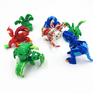 Image 5 - Hot Deformation Animal Action Toy Figures Diameter 3.5cm Capsule Random Send No Repeat Free Cards for Gift Dragon Dinosaur Toys