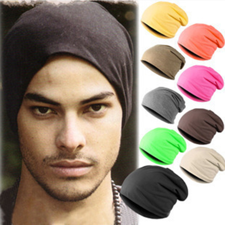 Cotton Candy-colored   Skullies     Beanie   Hats For Men and Women Autumn and Winter Headwear Hat Summer Thin Breathable Hip-hop Caps