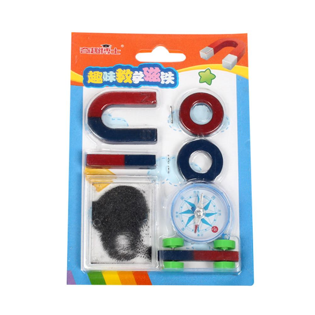 Bar Ring U-shape Compass Magnet Set Education Science Experiment Tools Kid Toy