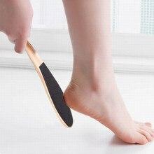 1 PCS Sandpaper Foot File Callus Dead Skin Remover Pedicure Portable Double Side Wooden Handle  Pedicure Tools  Callus Remover