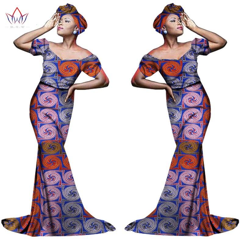 Африканский хлопчатобумажный материал Платья Для Женщин Дашики традиционная Анкара Мода Африка одежда с коротким рукавом Анкара платья WY963 - Цвет: 10