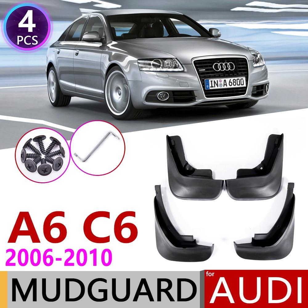 Car Mudflap For Audi A6 Sedan Saloon C6 2006~2010 Fender Mud Guard Splash Flaps Mudguards Accessories 2007 2008 2009 3th 3 Gen