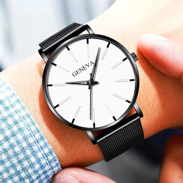 Men Luxury Watches Quartz Wrist watch Man Sport Analog Wristwatch Stainless Steel Casual Bracele Watch Simple Top Brand Clock 2