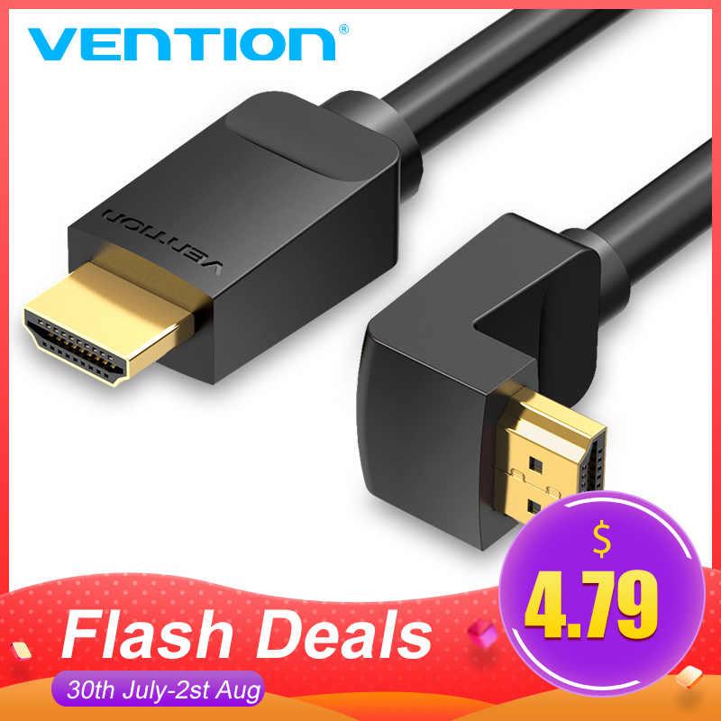 Tions HDMI Kabel 4K HDMI 2,0 Kabel HDMI 90/270 Grad Winkel Adapter für Apple TV PS4 Splitter Video Audio 90 grad HDMI Kabel