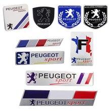 รถสติกเกอร์หน้าต่าง Trunk Emblem สำหรับ Peugeot 308 306 205 4008 307 2008 107 Landtrek 208 5008 301 RCZ 206 3008 408 406 407 508 207