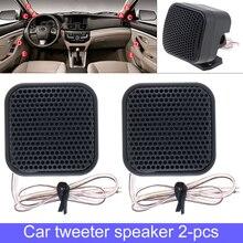 2pcs 500W TP-004A Black Fashionable Plastic Case High Efficiency 12V Mini Durable Stereo Tweeter