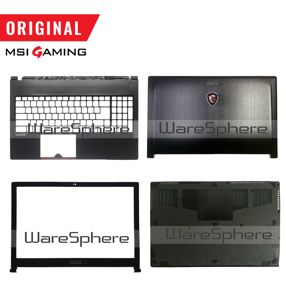 New Original For MSI GS63 GS63VR LCD Back Cover Bezel Palmrest Bottom Base Case 3076K3D211 3076K3D212 3076K2A215 3076K1B213