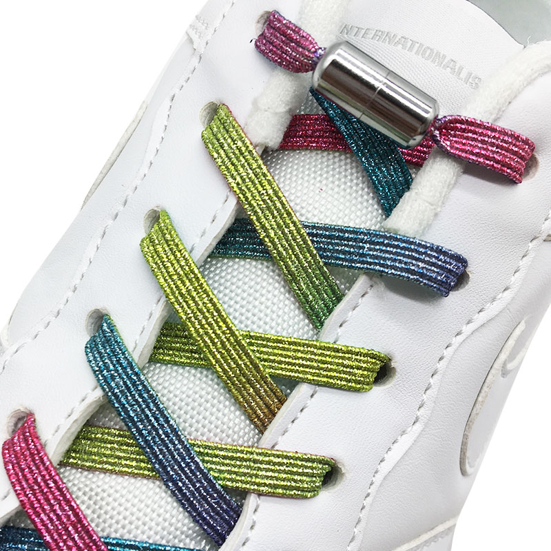 2020 New No Tie ShoeLaces Elastic Locking ShoeLace Special Creative No Tie Shoes Lace Kids Adult Unisex Sneakers Laces Strings