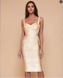 Высококачественное новое облегающее платье из вискозы с золотым принтом, сексуальное облегающее коктейльное платье знаменитости, вечерни...