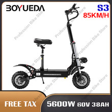 BOYUEDA S3 5600W 60V 38AH składany dorosłych skuter elektryczny 11 Cal koła 85 KM/H e-skuter mobilność krok deskorolka Patinete