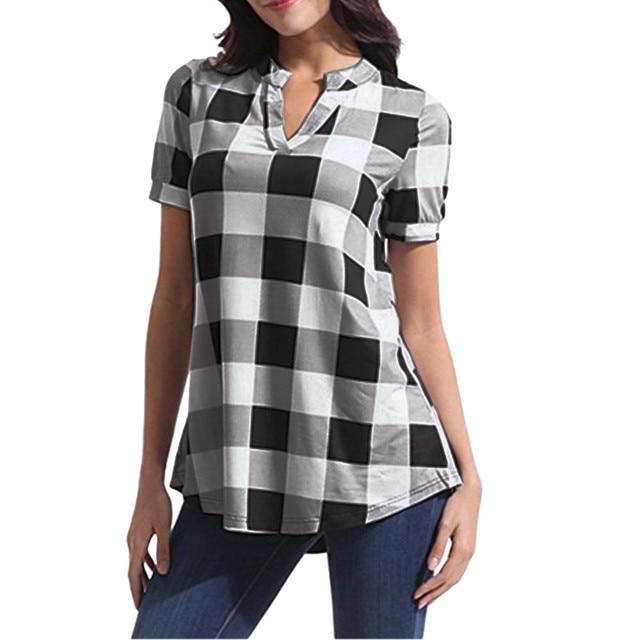 checkered pullover shirt, long and fun 6