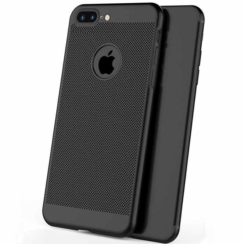 Теплоотвод полый чехол для телефона iPhone 6S 7 6 S 8 Plus X 5 5S SE 10 5SE Ультратонкий чехол для телефона s крутая матовая задняя крышка