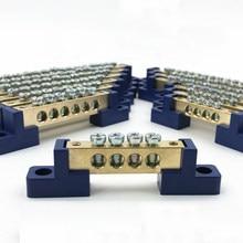 1 pçs fio de cobre linha terminal zero tira à terra proteção ambiental chama-retardador caixa distribuição conexão gk019