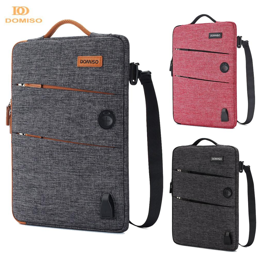DOMISO 11 13 14 15.6 17.3 Inch Waterproof Laptop Bag Polyester with USB Charging Port Headphone Hole for Lenovo Acer HUAWEI HP|Laptop Bags & Cases| |  - title=