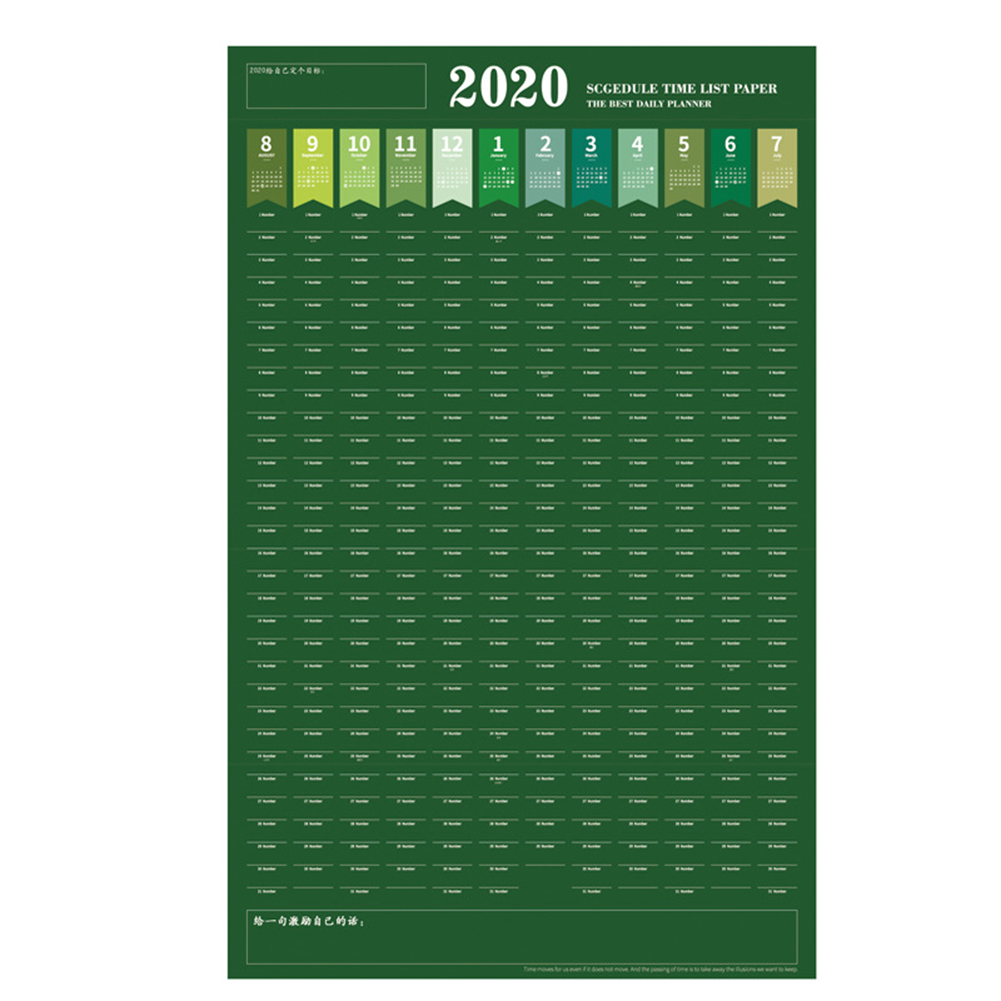 2020 Year Planner Calendar Planner Wall Planner Schedule Plan Wall Planner  For Home Office School Organisation 82x52cm