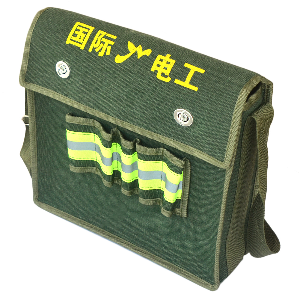 Wrench Hardware Parts Electrician Toolkit Organizer Canvas Pouch Tool Bag Metal Hardware Parts Organizer Pouch Portable Toolkit