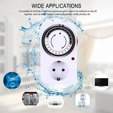 цена на Mechanical Timer Automatic Power Off Home Smart Countdown Switch Socket Mechanical Timer Switch Universal Socket Timer
