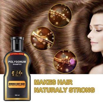 цена Grey Reverse Hair Color Shampoo Multiflorum Anti-Dandruff Shampoo Anti Hair Loss Moisturizing Refreshing Black Hair Care 30ml онлайн в 2017 году