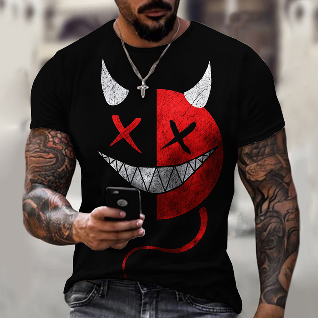 3d Printed t-shirt fashion men's street casual sports shirt male O-neck 4