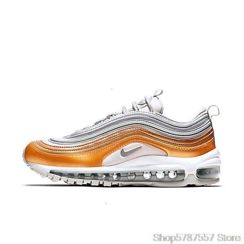 Originale Autentico Nike Air Max 97 OG QS Pallottola D'argento scarpe Da Ginnastica Da uomo Traspirante Runningg Scarpe M