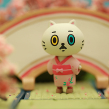 Genuine CANDYBOX dry branch cat kimono series cute cat twisted toy blind box cute decoration
