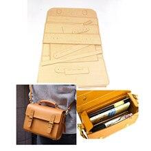 Diy skóra Craft mężczyźni teczka na ramię duża torebka Kraft Paper szablon wzór wzornik 30x25x14cm