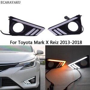Luz LED intermitente para el día del coche 12V luces diurnas DRL para TOYOTA Mark X Reiz 2014 accesorios para el coche