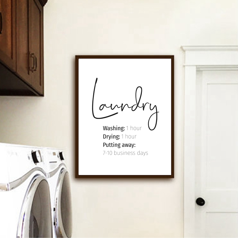 Laundry Print Laundry Room Decor , Funny Laundry Signs Typography Poster Wall Art Picture Canvas Painting Minimalist Decoration