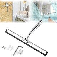 Aço inoxidável janela limpador de vidro limpador rodo chuveiro banheiro espelho escova