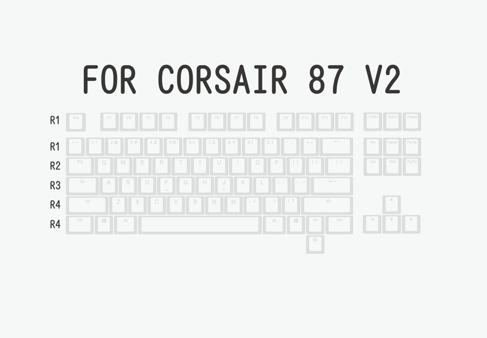 布丁V2白白-corsair 87