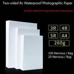 260G A4 5/6/7 inch dubbelzijdig Foto Glossy Fotografische hoogglans waterdichte papier voor inkjet printers Kantoor 40/200 pcs