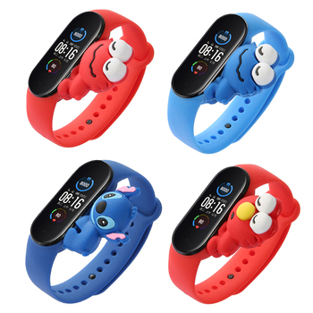 Cartoon Band Voor Xiaomi Mi Band 5 6 Voor Slimme Horloge Pols M3 M4 Armband Voor Xiaomi Miband 5 6 voor Mi Band 4 Strap Vervanging tanie i dobre opinie foonbe Cn (Oorsprong) Polsband english Russisch Spanish POLISH Portugees Adult All Compatible Passometer Fitness Tracker
