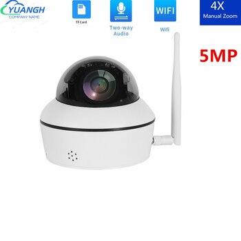 Cámara inalámbrica MINI PTZ IP WIFI para exteriores, IR 50M, Audio bidireccional, domo de velocidad 5MP, CCTV, cámara IP de seguridad ONVIF P2P, APP CamHi