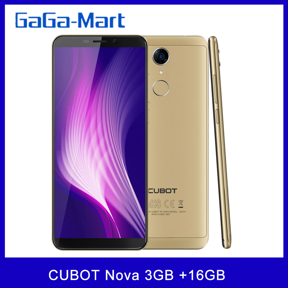 CUBOT Nova 4G Mobile Phone Android 8.1 Fingerprint 3GB+16GB 13MP+8MP Camera 5.5inch HD+ 720*1440P 18:9 Screen Smartphone|Cellphones| - AliExpress