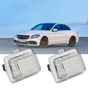 2Pcs Car License Plate Light for Mercedes-Benz W204/W212/W216/W221/W207 18 Led White Rear License Tag Lights