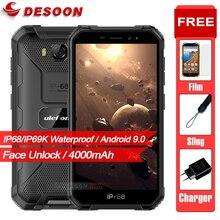 Ulefone スマートフォン,アーマーx6,2GB,16GB,防水IP68/ip69k,MT6580,クアッドコア,4000mAh,顔認識,Android 9.0,3g