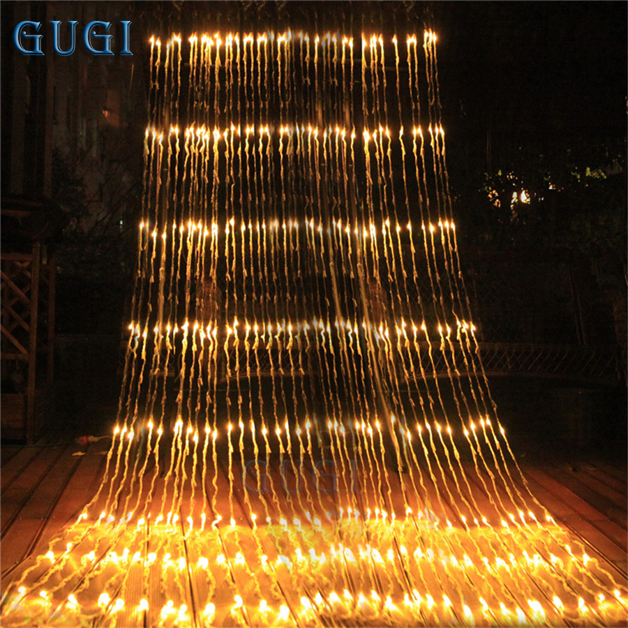 320 LED Waterfall Lamp Waterproof Meteor Shower Rain String Light Christmas LED Lights Curtain Fairy String Lights For Garland