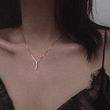 ANENJERY Double couche en forme de U Thai argent collier 925 en argent Sterling courte clavicule chaîne breloque collier pour les femmes S-N530