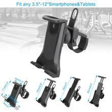 Bike Bicycle Motorcycle Cell Phone Holder Stand Mobile Tablet Clip Holder for iPhone Smartphones 4-12 inch