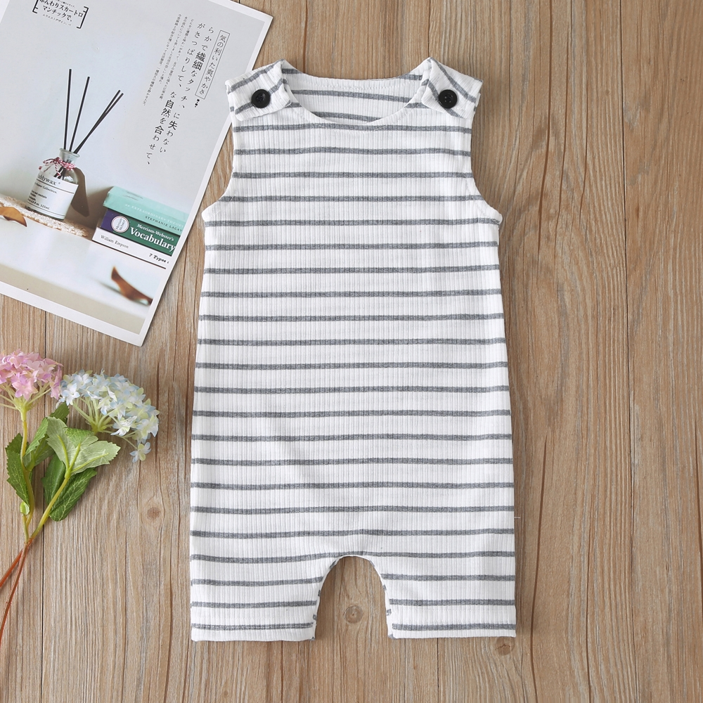 2021 New Baby Boys Girls Clothes Newborn Romper Infant Jumpsuit Summer Cotton Striped Patchwork Rompers Cool Shorts Babies 0-24M 2
