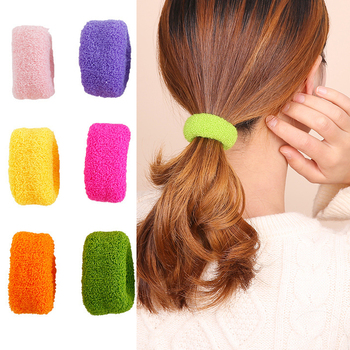 6 Pcs/set Woman Fashion Scrunchies Solid Hair Ties Girls Ponytail Holders Rubber Band Hairband Hair Accessories Scrunchie Pack 50 100 pcs girls candy color nylon hair ties small kids elastic hairband children rubber band ponytail holders hair accessories