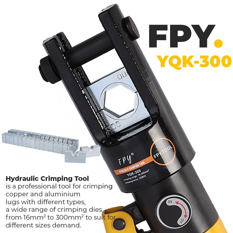Tools : 16-300mm Hydraulic Crimping Plier YQK-300 Manual Hydraulic Hose Crimping Tools For Press CU AL Connectors