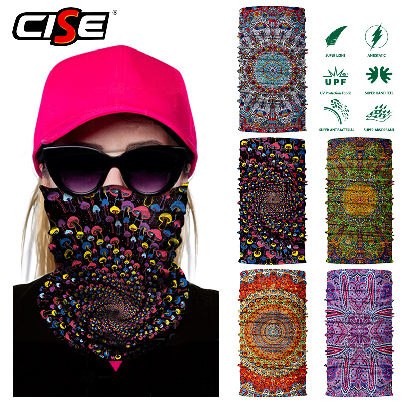 3D Seamless Motorcycle Bandana Magic Neck Face Mask Balaclava Moto Bicycle Cycling Scarves Sun Windproof Head Outdoor Women