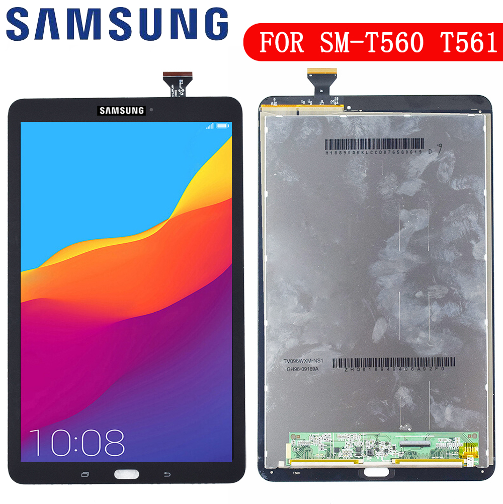 Color : Grey T561 LCD Screen Mobile Phone and Digitizer Full Assembly for Galaxy Tab E 9.6 Grey T560