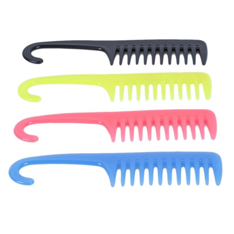 Новый Антистатический гребень для волос Парикмахерские кисти с вешалкой душ распутывает большой широкий зуб CombProfessional салон макияж 1 шт